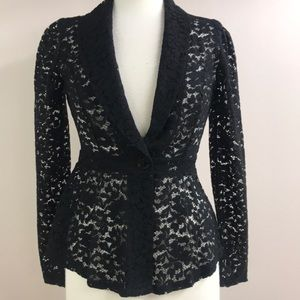 Cato black lace blazer small